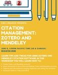 Zotero and Mendeley Workshop