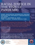 Racial Justice in the Time of Pandemic by Central Washington University, Cynthia Coe, Shawnté Elbert, Carylin M. Holsey, Marwa Ghazali, and David Schwan
