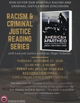 Racism and Criminal Justice Book Discussion: October 2020