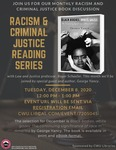 Racism and Criminal Justice Book Discussion: December 2020 by Central Washington University and Roger Schaefer