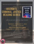 Racism and Criminal Justice Book Discussion: February 2021 by Central Washington University and Roger Schaefer