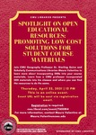 Spotlight on Open Educational Resources: Promoting Low-Cost Solutions for Student Course Materials by Central Washington University, Maura Valentino, and Sterling Quinn