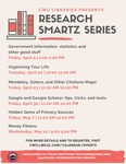 Research Smartz Series Spring 2021 by Central Washington University