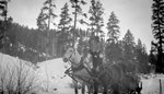 Two People, Horse, Sled