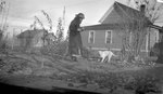 Woman, Dog, House
