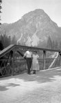Bridge, People, Mountain