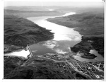 Aerial View of Grand Coulee Dam and Columbia River