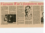 Newspaper Clipping, Vietnam War's forgotten men