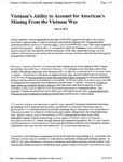 Vietnam's Ability to Account for American's Missing From the Vietnam War