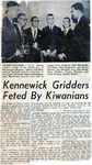 News Clipping: Kennewick Griders Feted by Kiwanians