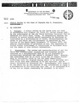 Status Review in the Case of Captain San D. Fracisco