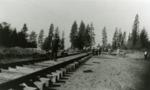 Railroad line ends at Patrick Mine, Ronald, Washington