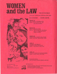 "Women's Center: Flyer Promoting Workshop on ""Women and the Law"""