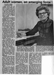 Newspaper Clippings: Adult Women, An Emerging Force
