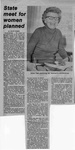 Newspaper Clippings: State Meet for Women Planned