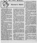Newspaper Clippings: Women's Watch