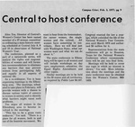 Newspaper Clippings: Central to Host Conference
