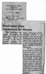 Newspaper Clippings: Washington State Conference For Women