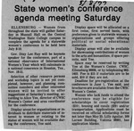 Newspaper Clippings: State Women's Conference Agenda Meeting Saturday [May 1977