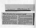 Newspaper Clippings: Plan of Action for Women is Goal