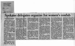 Newspaper Clippings: Spokane Delegates Organize for Women's Confab