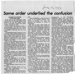 Newspaper Clippings: Some Order Underlied the Confusion