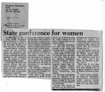 Newspaper Clippings: State Conference to Women