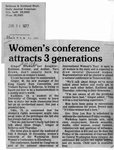 Newspaper Clippings: Women's Conference Attracts 3 Generations