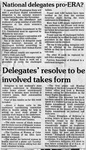 Newspaper Clippings: National Delegates Pro-ERA?