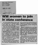 Newspaper Clippings: Walla Walla Women to Join in State Conference