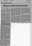 Newspaper Clippings: Women Set Convention