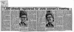 Newspaper Clippings: 1,300 Already Registered for State Women's Meeting
