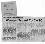 Newspaper Clippings: Women Travel to CWSC