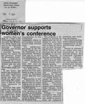 Newspaper Clippings: Governor Supports Women's Conference