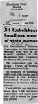 Newspaper Clippings: Jill Ruckelshaus Headlines Meet of State Women