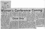 Newspaper Clippings: Women's Conference Coming