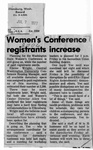 Newspaper Clippings: Women's Conference Registrants Increase