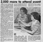 Newspaper Clippings: 2,000 More to Attend Event