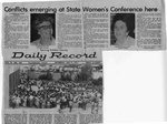 Newspaper Clippings: Conflicts Emerging at State Women's Conference Here