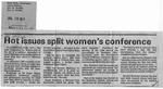 Newspaper Clippings: Hot Issues Split Women's Conference