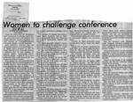 Newspaper Clippings: Women to Challenge Conference