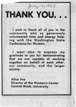 "Newspaper Clippings: ""Thank You"""