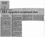 Newspaper Clippings: Unofficial Results: ERA Supporters on National Slate