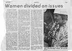 Newspaper Clippings: Women Divided on Issues