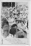 Newspaper Clippings: [Campus Crier Cover Shows Crowd]