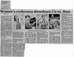 Newspaper Clippings: Women's Conference Showdown: Us vs. Them