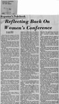 Newspaper Clippings: Reflecting Back On Women's Conference