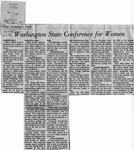 Newspaper Clippings: One Woman's View: Washington State Conference For Women