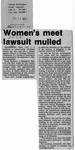 Newspaper Clippings: Women's Meet Lawsuit Mulled