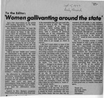 Newspaper Clippings: Women Gallivanting Around the State